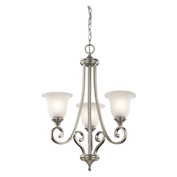 Kichler Brushed Nickel Monroe Chandelier With 3 Lights - 23In. Wide