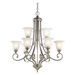 Kichler Brushed Nickel Monroe Chandelier With 9 Lights - 34In. Wide