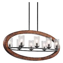 Kichler Kichler 43191Aub Auburn Grand Bank Single-Tier Linear Chandelier With 8 Lights
