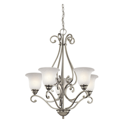 Kichler Kichler 43224Ni Brushed Nickel Camerena Single-Tier  Chandelier With 5 Lights