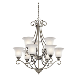 Kichler Kichler 43226Ni Brushed Nickel Camerena 2-Tier  Chandelier With 9 Lights