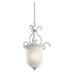 Kichler Olde Bronze Camerena Single-Bulb Indoor Pendant With Urn-Style Glass Shade