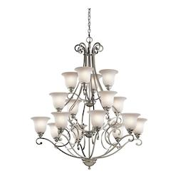 Kichler Kichler 43234Ni Brushed Nickel Camerena 3-Tier  Chandelier With 16 Lights