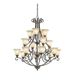 Kichler Sixteen Light Olde Bronze Up Chandelier