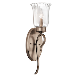 Kichler Brushed Silver And Gold Malina Single Light Wall Sconce