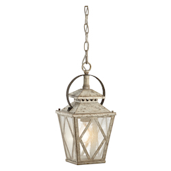 Kichler Antique White Hayman Bay Single-Bulb Indoor Pendant