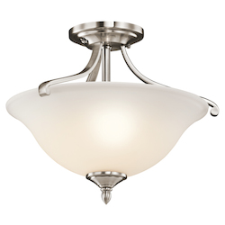 Kichler Classic Pewter Wellington Square 2 Light Semi-Flush Indoor Ceiling Fixture
