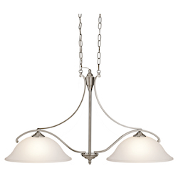 Kichler Classic Pewter Wellington Square Single-Tier Linear Chandelier With 2 Lights