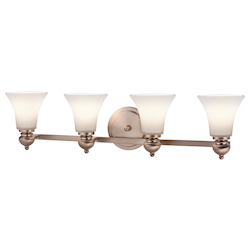 Kichler Classic Pewter Sheila 33In. Wide 4-Bulb Bathroom Lighting Fixture