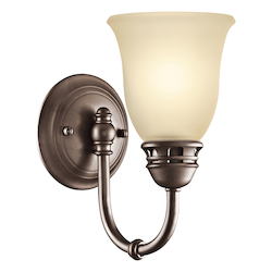 Kichler Olde Bronze Single Light Reversible Wall Sconce
