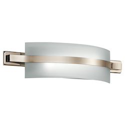 Kichler Polished Nickel Freeport 22In. Wide 2-Bulb Bathroom Lighting Fixture