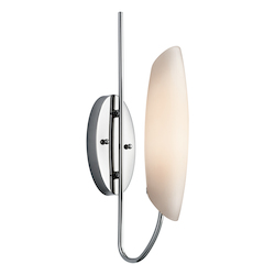 Kichler Chrome Modern Single Light Wall Sconce From The Stella Collection