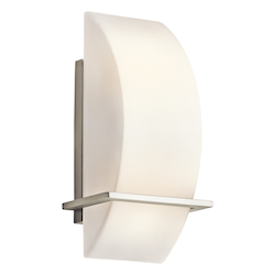 Kichler Brushed Nickel Modern Two Light Ambient Lighting Wall Sconce