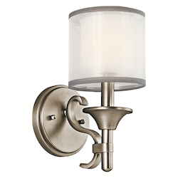Kichler Antique Pewter Single Light Wall Sconce From The Lacey Collection