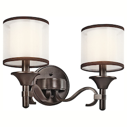 Kichler Two Light Mission Bronze Vanity
