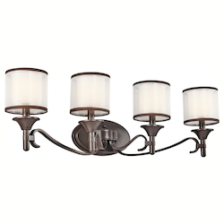 Kichler Four Light Mission Bronze Vanity