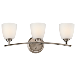 Kichler Brushed Pewter Granby 24.91In. Wide 3-Bulb Bathroom Lighting Fixture