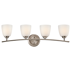 Kichler Brushed Pewter Granby 32.71In. Wide 4-Bulb Bathroom Lighting Fixture