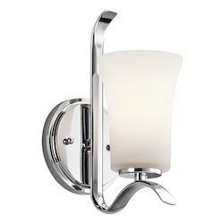 Kichler One Light Chrome Wall Light
