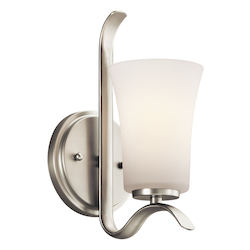 Kichler Brushed Nickel 1 Light Wall Sconce From The Armida Collection
