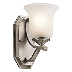 Kichler Classic Pewter 1 Light Wall Sconce From The Wellington Square Collection