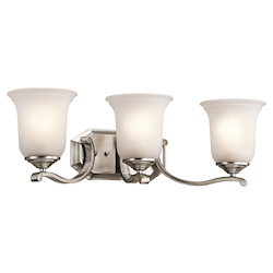 Kichler Classic Pewter Wellington Square 24In. Wide 3-Bulb Bathroom Lighting Fixture