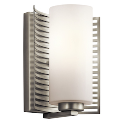 Kichler Kichler 45431Ni Brushed Nickel 1-Bulb Wall Sconce From The Selene Collection