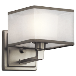 Kichler Kichler 45437Ni Brushed Nickel Kailey 1 Light Wall Sconce