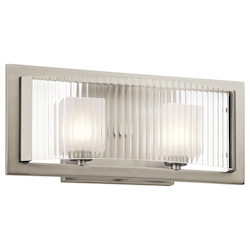 Kichler Brushed Nickel Rigate 15.75In. Wide 2-Bulb Bathroom Lighting Fixture