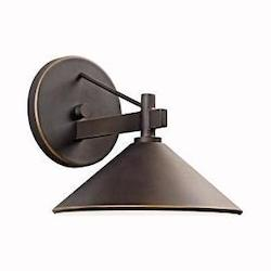 Kichler Olde Bronze Ripley Collection 1 Light 8In. Outdoor Wall Light