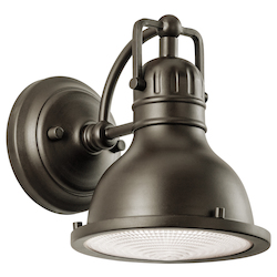 Kichler Olde Bronze Hatteras Bay Collection 1 Light 8In. Outdoor Wall Light