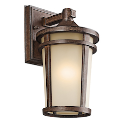 Kichler Brown Stone Atwood Collection 1 Light 11In. Outdoor Wall Light