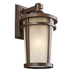 Kichler Brown Stone Atwood 1 Light 18In. Energy Efficient Fluorescent Outdoor Wall Light