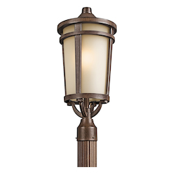 Kichler Brown Stone 1 Light Outdoor Post Light From The Atwood Collection