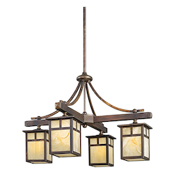 Kichler Canyon View Alameda Single-Tier Indoor / Outdoor Chandelier With 4 Lights