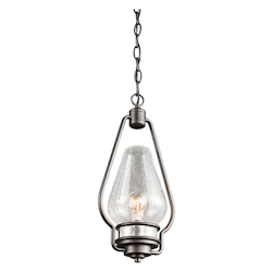 Kichler Kichler 49093Avi Anvil Iron Hanford 1 Light Outdoor Pendant