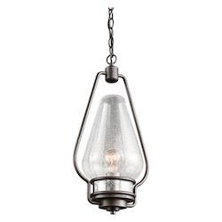 Kichler Kichler 49094Avi Anvil Iron Hanford 1 Light Outdoor Pendant