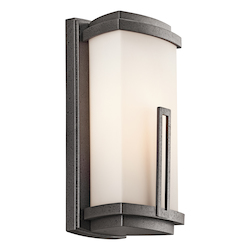 Kichler Anvil Iron Leeds Collection 1 Light 12In. Outdoor Wall Light