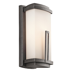 Kichler Anvil Iron Leeds 1 Light 12In. Energy Efficient Fluorescent Outdoor Wall Light