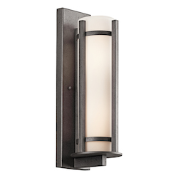 Kichler Anvil Iron Camden 3 Light 26In. Energy Efficient Fluorescent Outdoor Wall Light