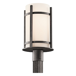 Kichler Anvil Iron Single Light Fluorescent Outdoor Post Light