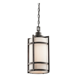 Kichler Anvil Iron Single Light Outdoor Pendant From The Camden Collection