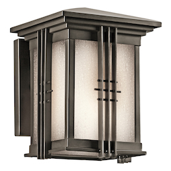 Kichler Olde Bronze Portman Square Collection 1 Light 8In. Outdoor Wall Light