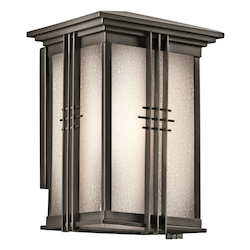 Kichler Olde Bronze Portman Square Collection 1 Light 11In. Outdoor Wall Light