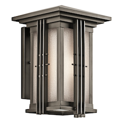 Kichler Olde Bronze Portman Square Collection 1 Light 14In. Outdoor Wall Light