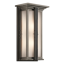 Kichler Olde Bronze Portman Square Collection 2 Light 22In. Outdoor Wall Light