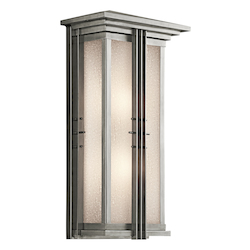 Kichler Two Light Stainless Steel Wall Lantern
