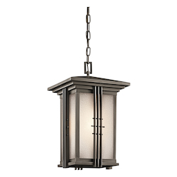 Kichler Olde Bronze Single Light Outdoor Pendant From The Portman Square Collection