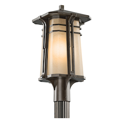 Kichler Olde Bronze Single Light Fluorescent Outdoor Post Light