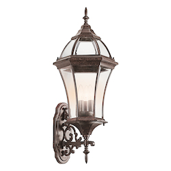 Kichler Three Light Tannery Bronze Wall Lantern